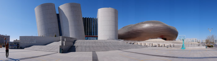 ordos panos 2 A ghost city, with a new look.