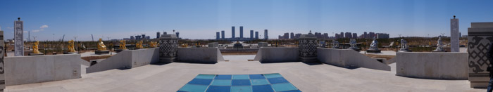 ordos panos 3 A ghost city, with a new look.