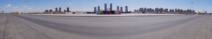 ordos panos 6 A ghost city, with a new look.