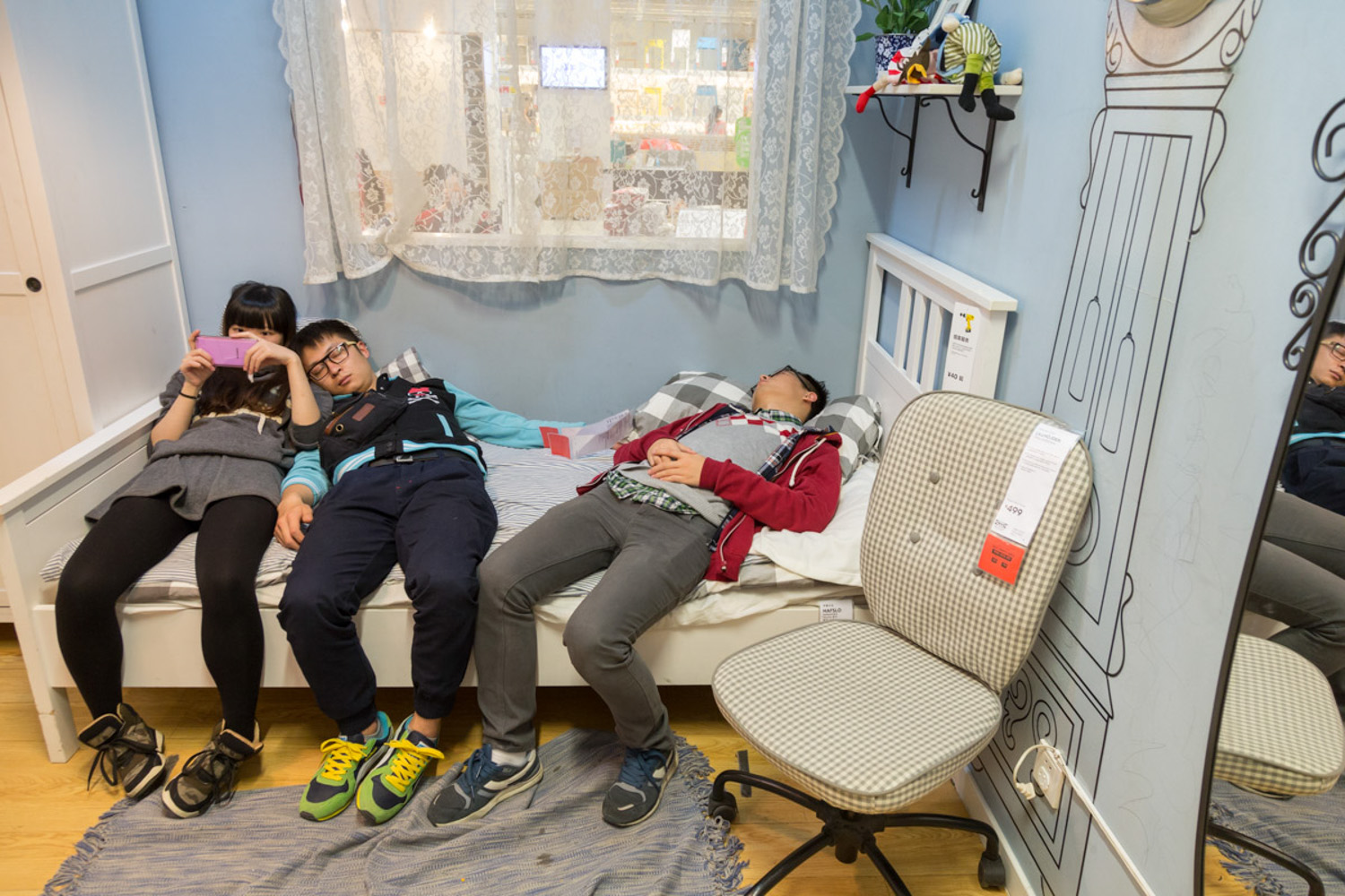 One of my favs from a story I did for a Finnish Newspaper about sleepers in Ikea, Beijing, China