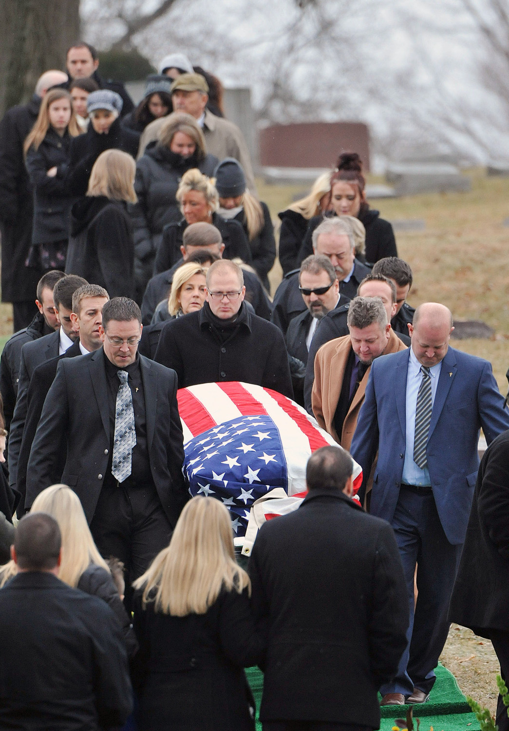 John Wendling being laid to rest