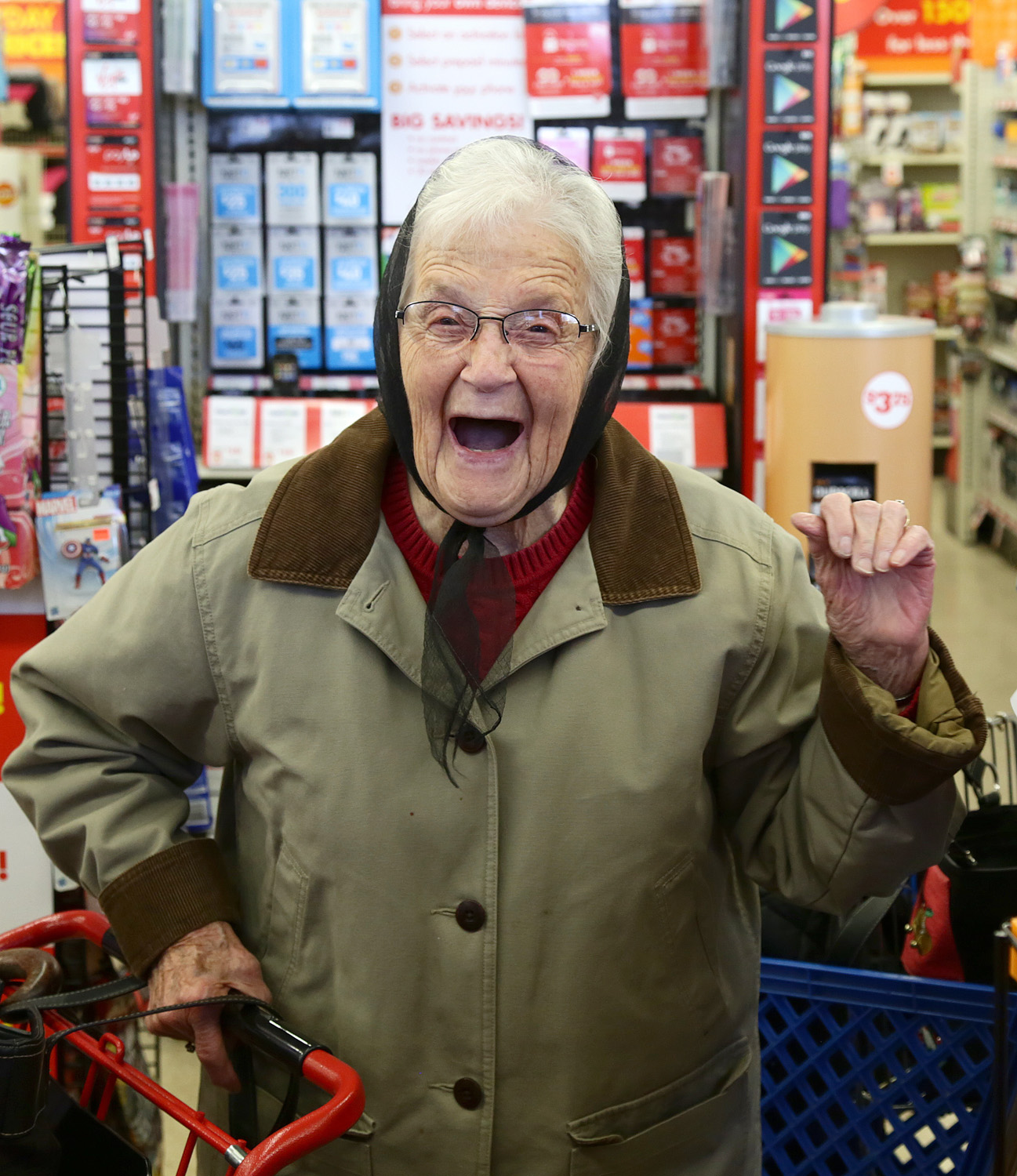 Ending this on a happy note. 93 year old Marth Smith reacts after finding out her things were paid for by some good samaritans just before Christmas.  Hope I can be like her someday!