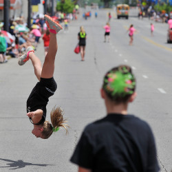 Students from Sophistication Dance Company perform during the 2015 Miss Ohio Parade in Mansfield.